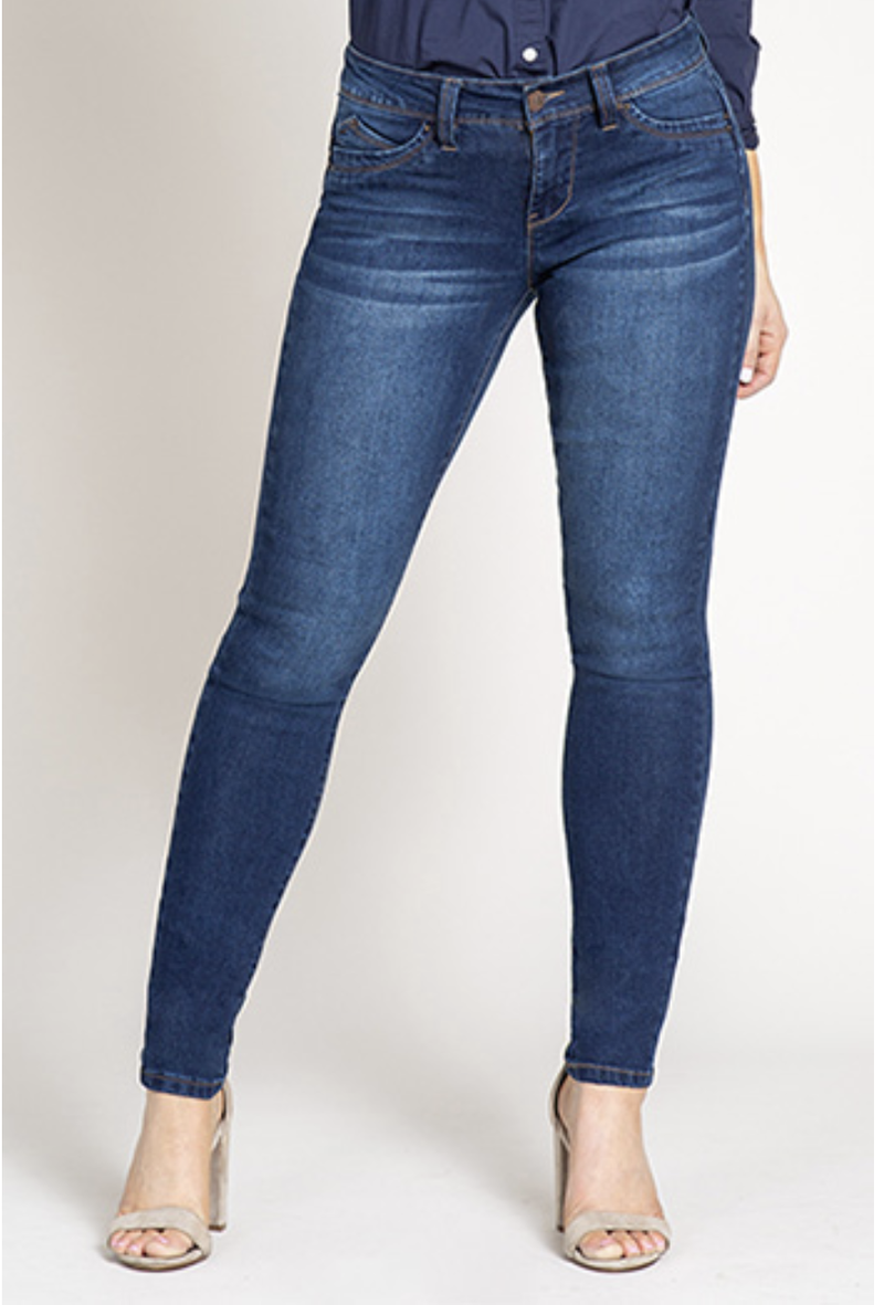 WBB Single Button Dark Wash Jeans