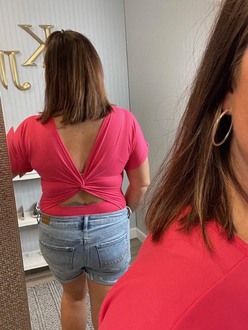 VB Coral Twist Back Bodysuit