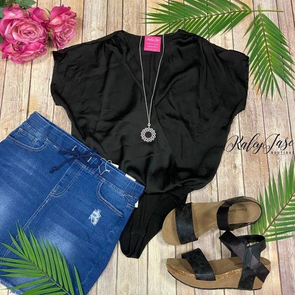 Draped Dressy Bodysuit