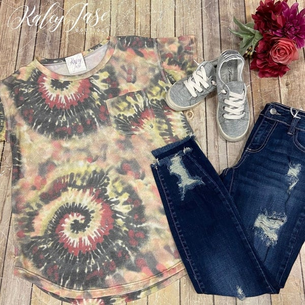 Yellow Multi Burst Pocket Top