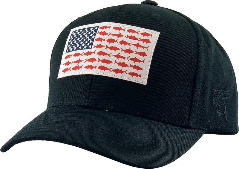Fish Flag Solid Snapback Hat (Color Options)