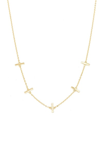 Sela Vertical Bar Necklace