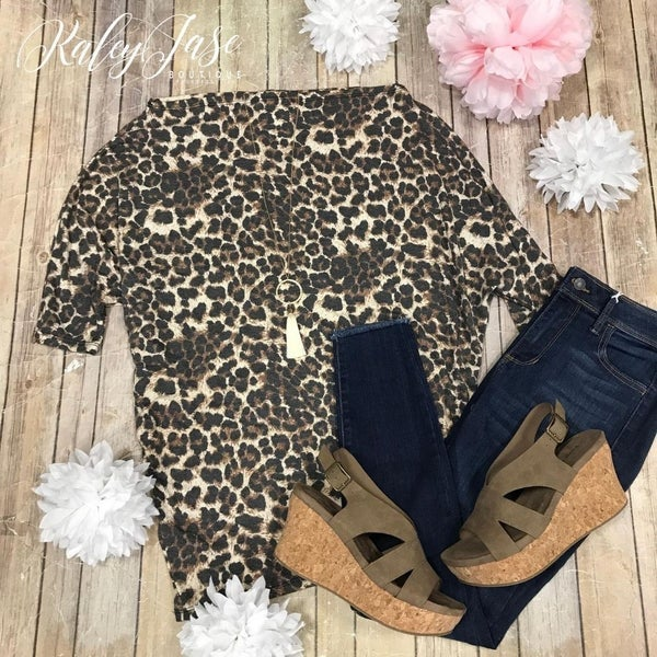 Leopard Slouchy Top