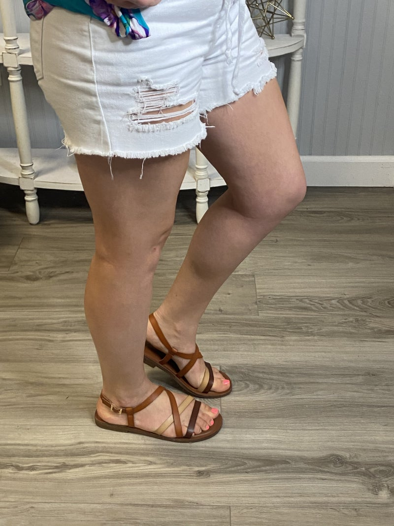 Brown Multi Strappy Sandal