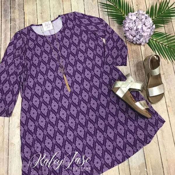 Purple Medallion Diamond Dress