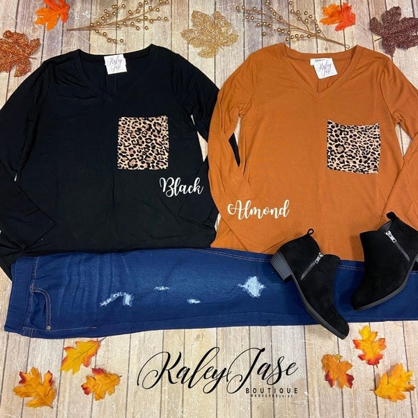 Leopard Pocket Long Sleeve
