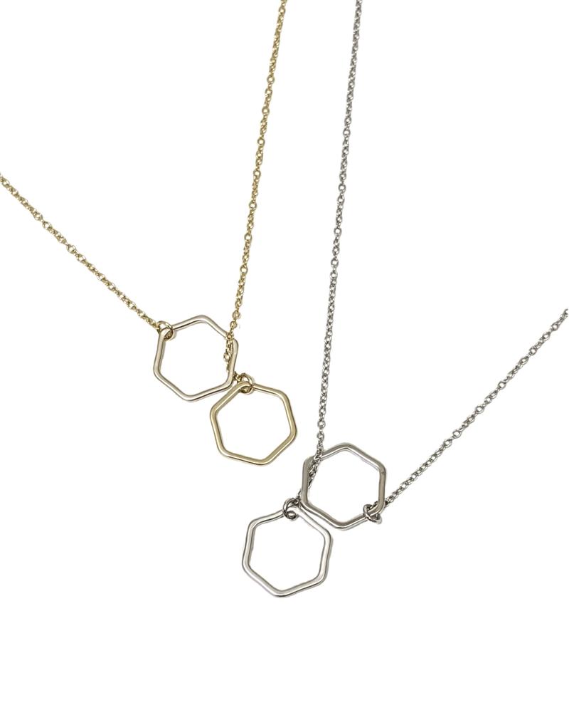 Esme Hexagon Pull Through Necklace