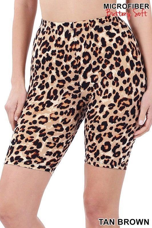Z Leopard Biker Shorts