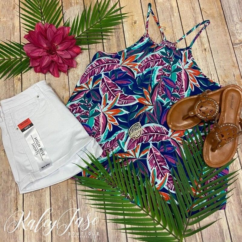 Bright Tropical Dressy Tank