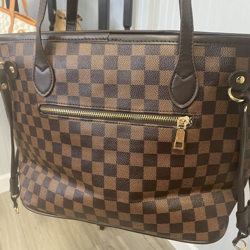 Checkered Purse & Wristlet
