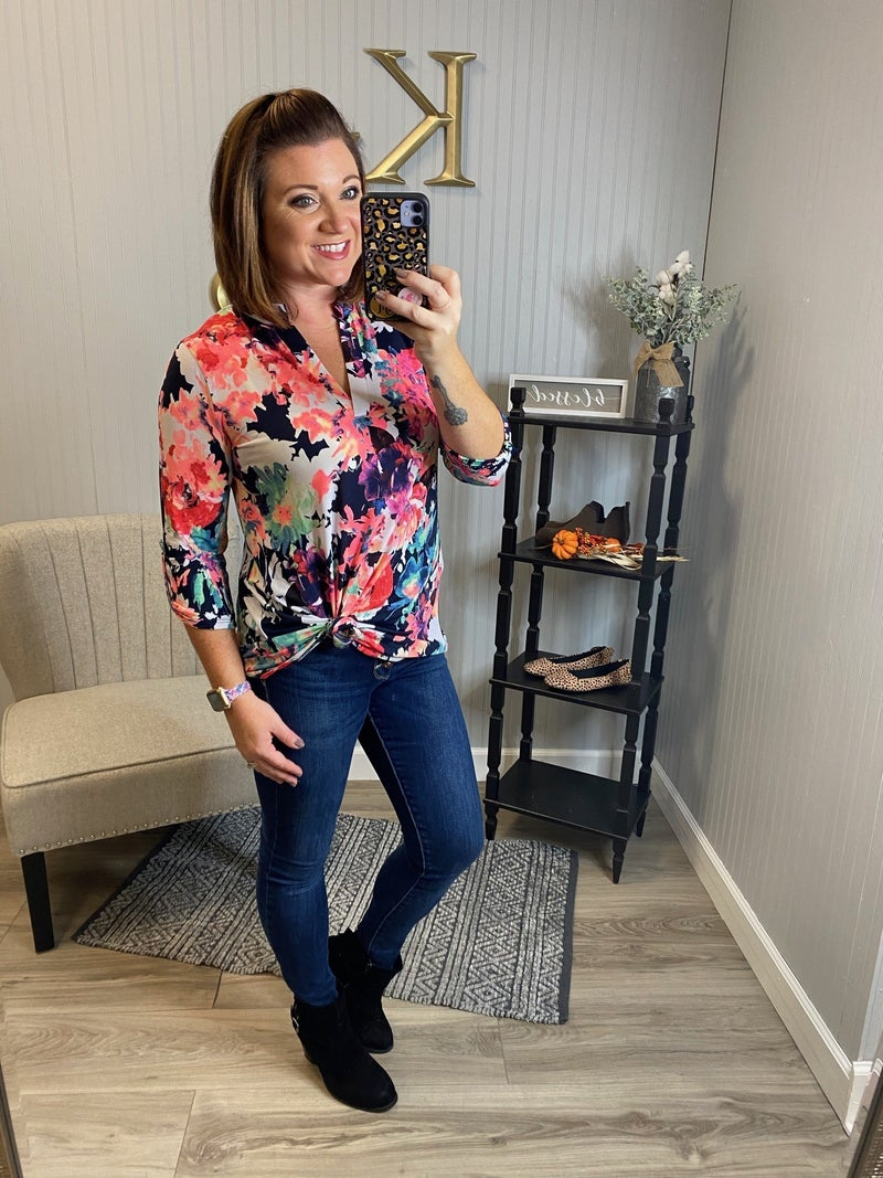SIL Bright Floral Gabby Top