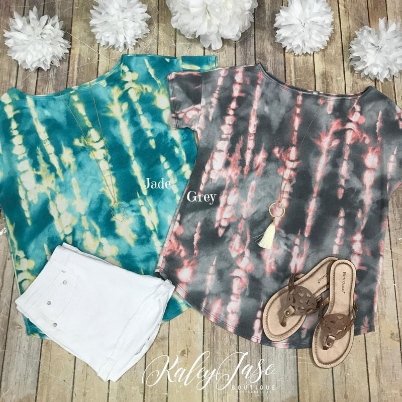 Tie Dye Slouchy Tops *Final Sale*