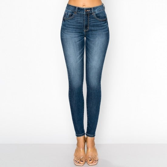 WX Dark Wash High Rise Jeans
