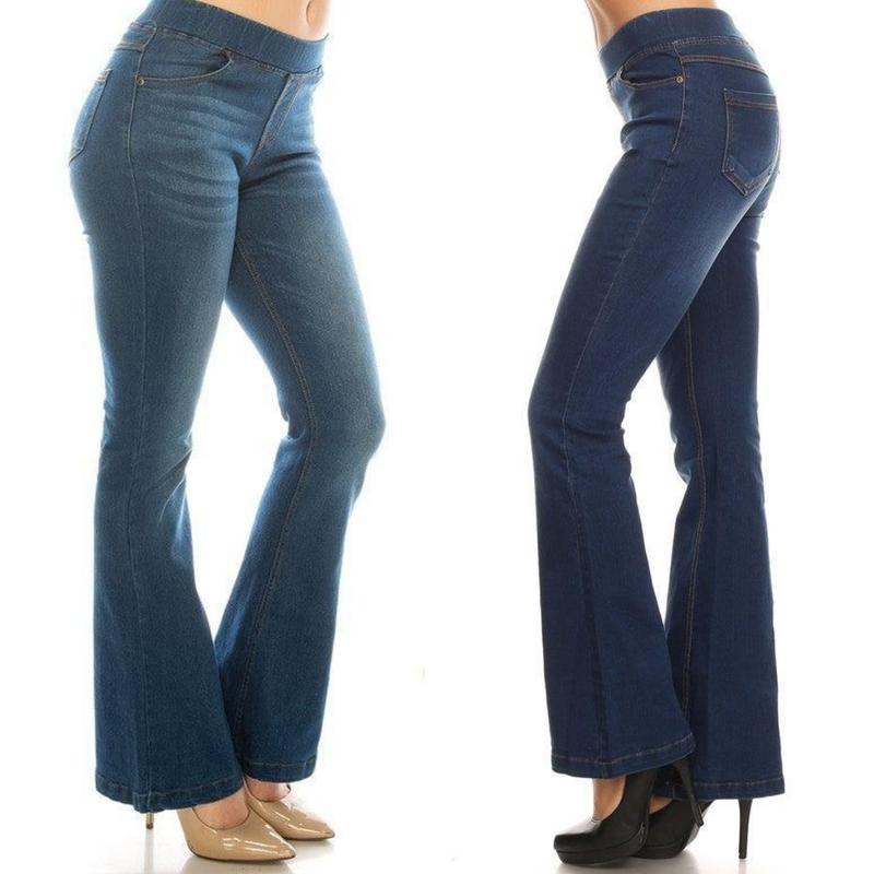 Pull On Denim Jeans