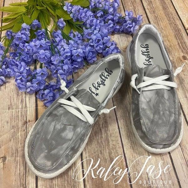 Gypsy Jazz Grey Tie Dye Slide on Shoe