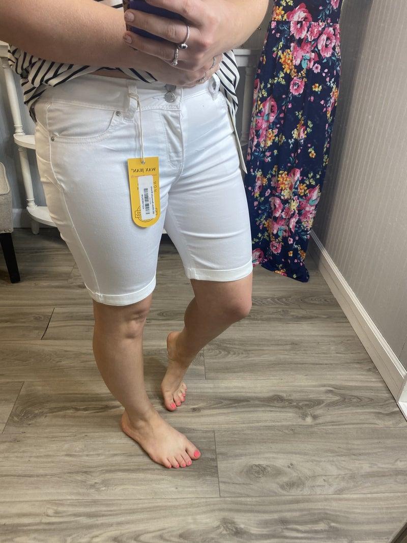 WX White Bermuda Shorts