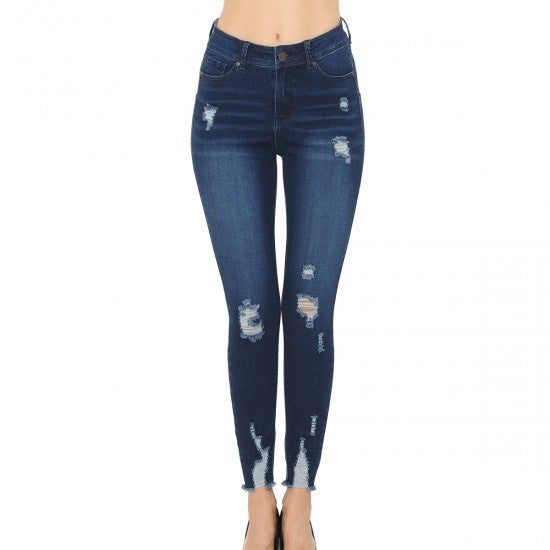 WX Push-up Distressed Skinny Jeans