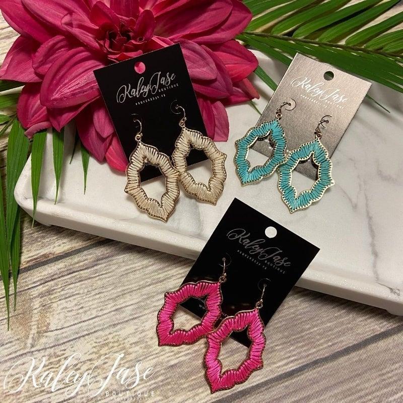 Threaded Pointy Ornate Earrings