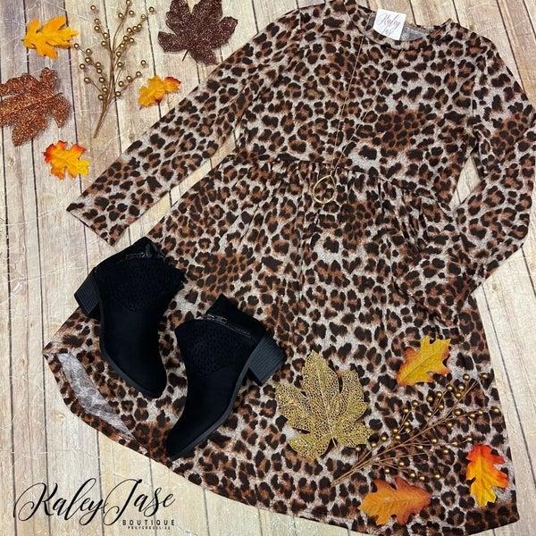 Wild Leopard Babydoll Dress