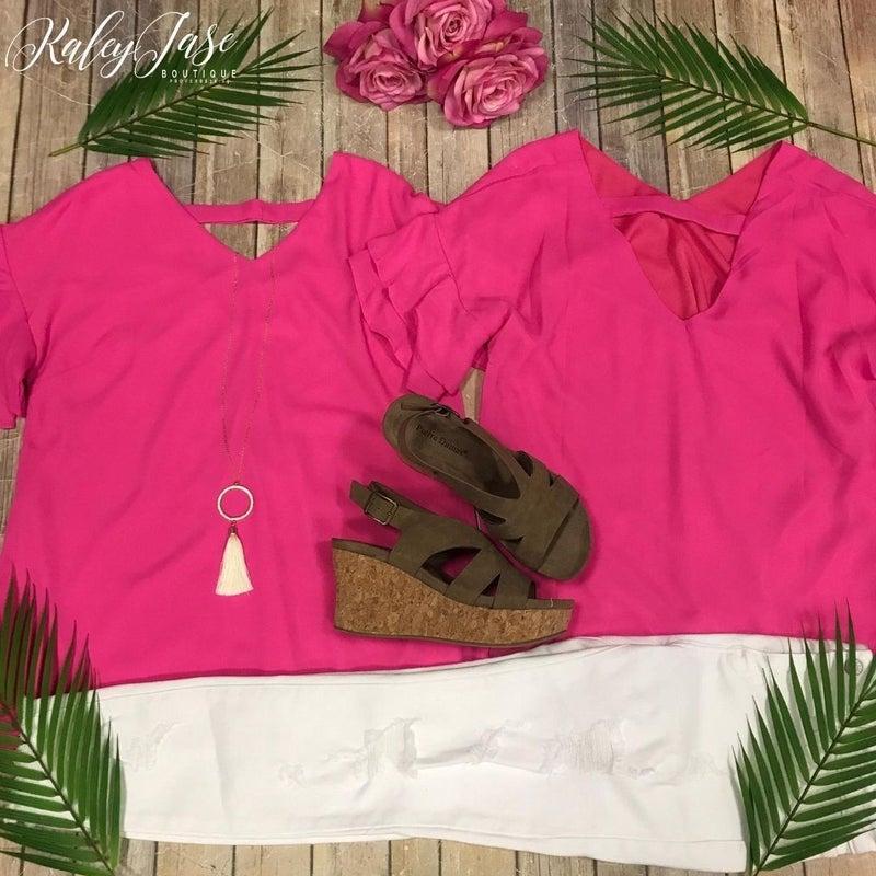 Hot Pink Dressy Top