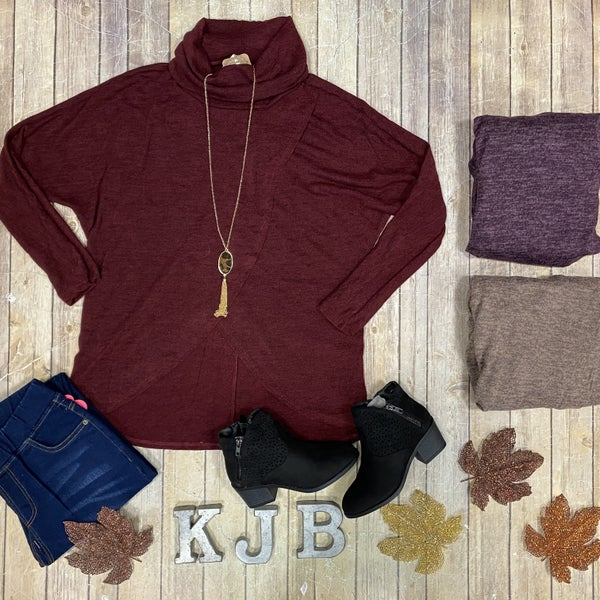 Cowl Neck Crossover LS Top