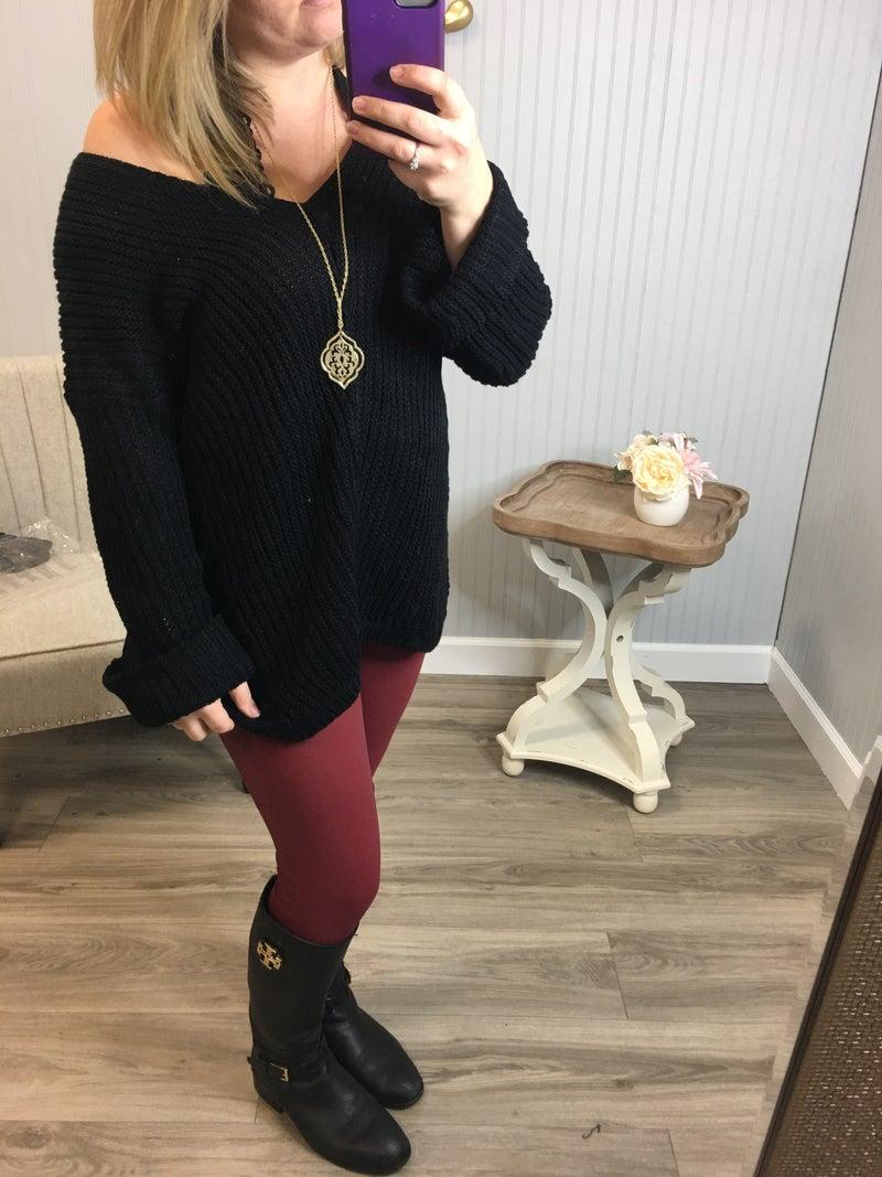 Wine Leather Leggings