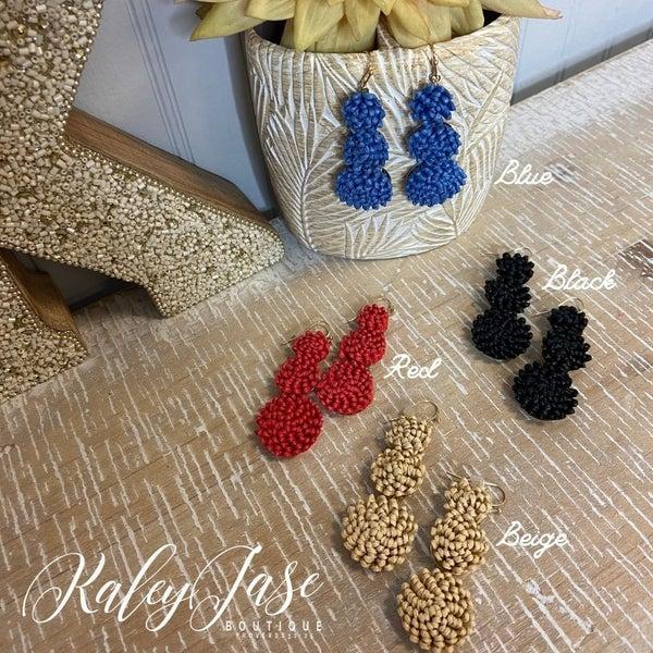 3 Tiered Wicker Earrings -YB2