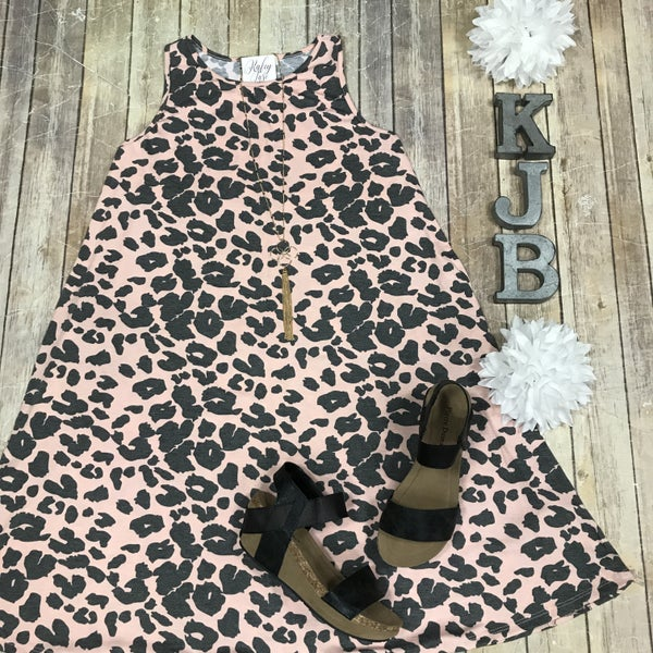 Pink Leopard Swing Dress