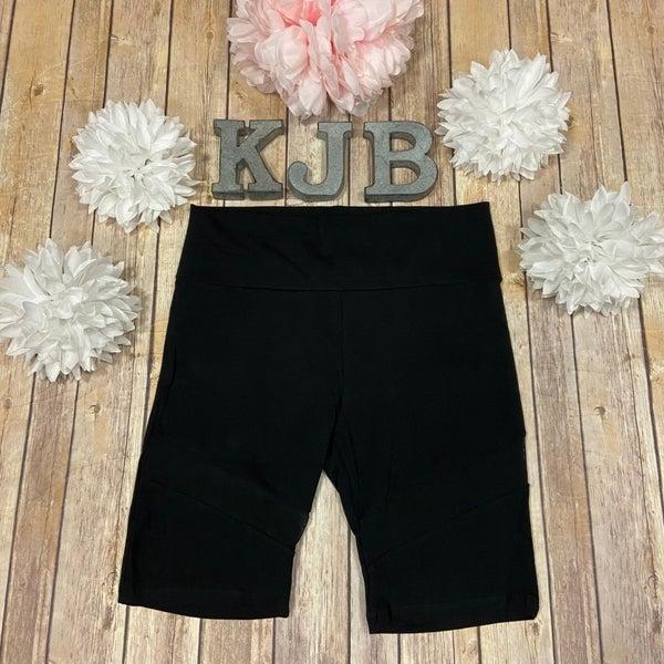 Black Mesh Biker Shorts