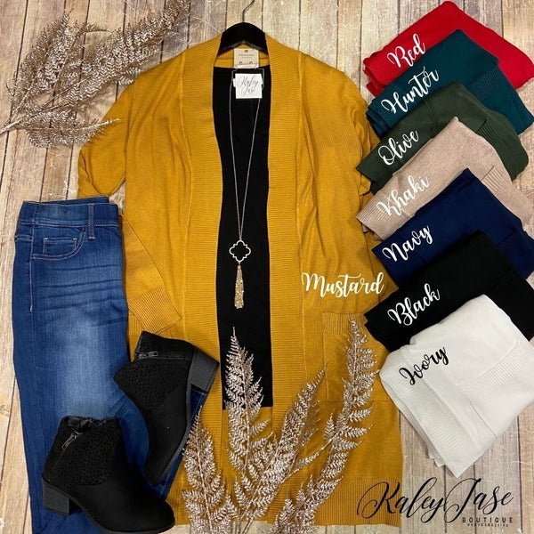 Mid Length Knit Cardigan