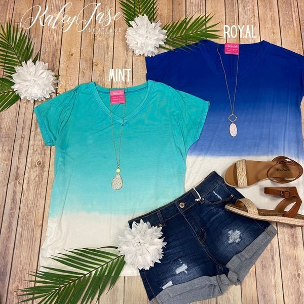 SIL Ombre Vneck Top