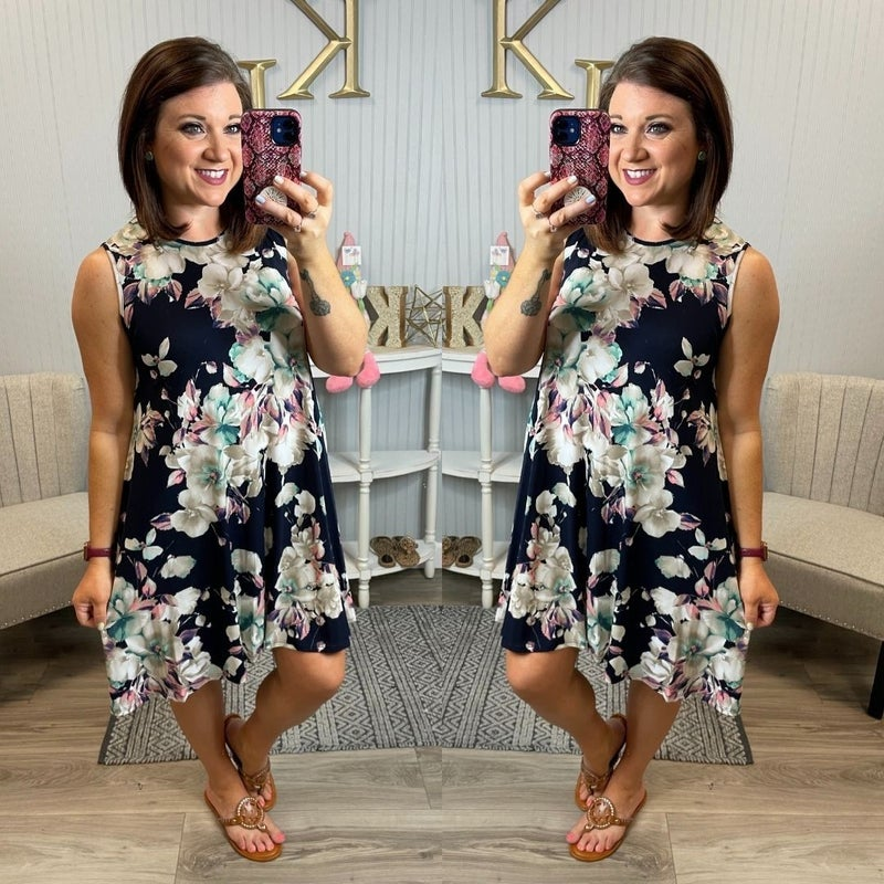*RESTOCKING SOON* VB Navy Floral Dress