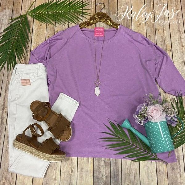 HM Oversized Lavender Dolman Top