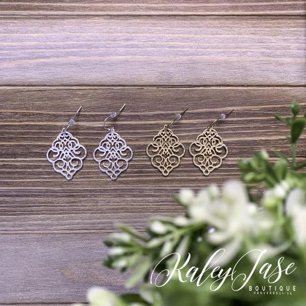 Intricate Design Dangle Earrings -E5