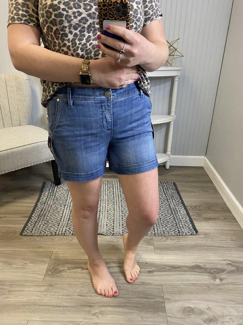 One5One Medium Wash Shorts