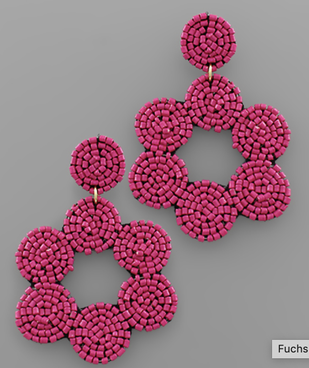 Beaded Multi Circle Earring