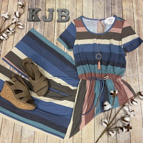 Multi Stripe Jumpsuit