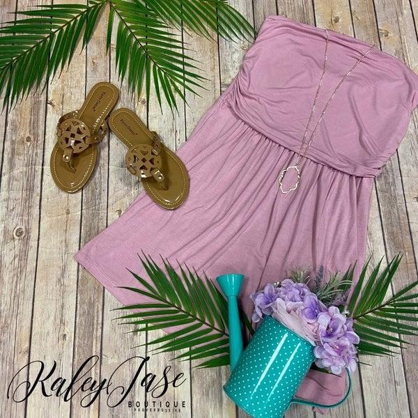 Rose Strapless Short Dress