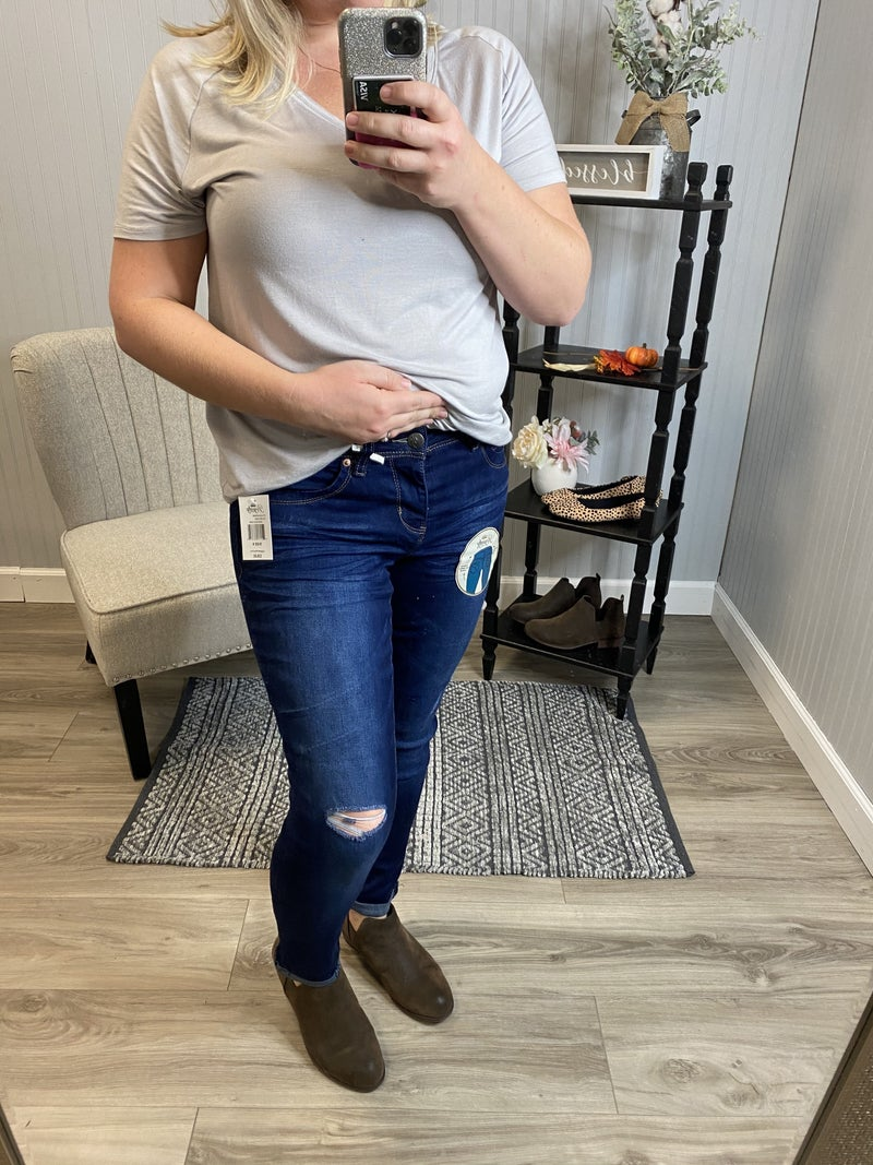 WBB Dark Wash Anklet Jeans
