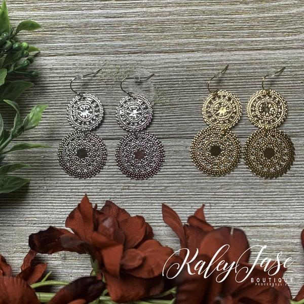Two Tiered Dangle Earrings -D8