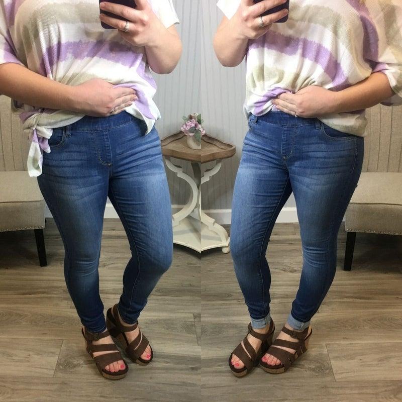 Cello Light Wash Skinny Jeans