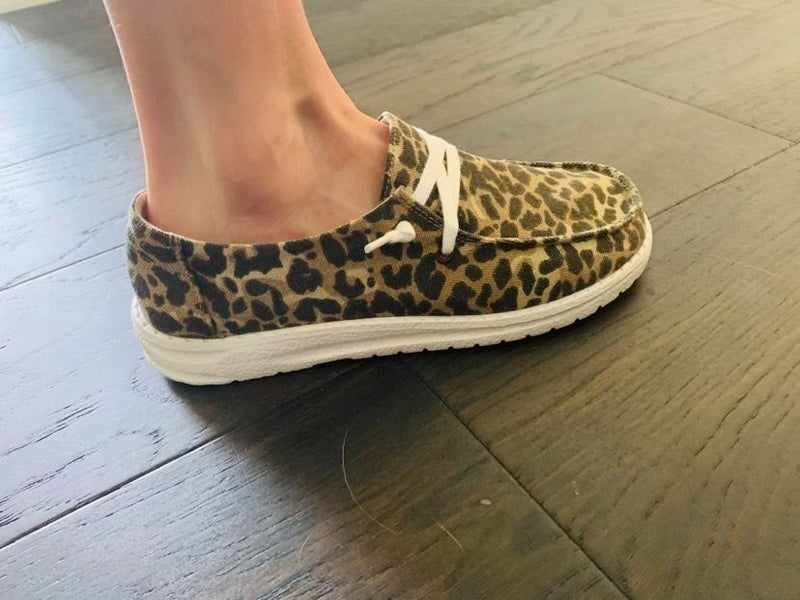 Very G Leopard Slide on Shoe