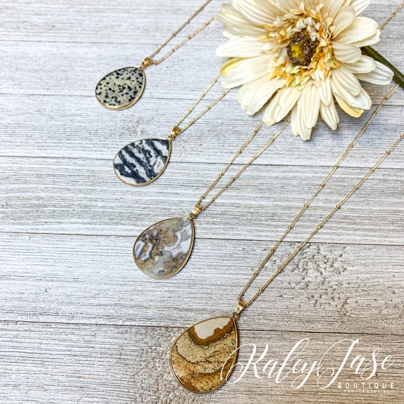 Gold Teardrop Necklace #29 & #30