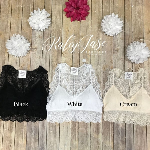 Scallop Hourglass Padded Bralette