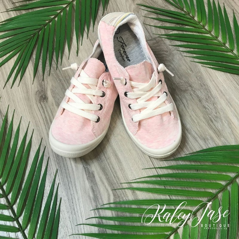 Pink Stripe Back Sneakers