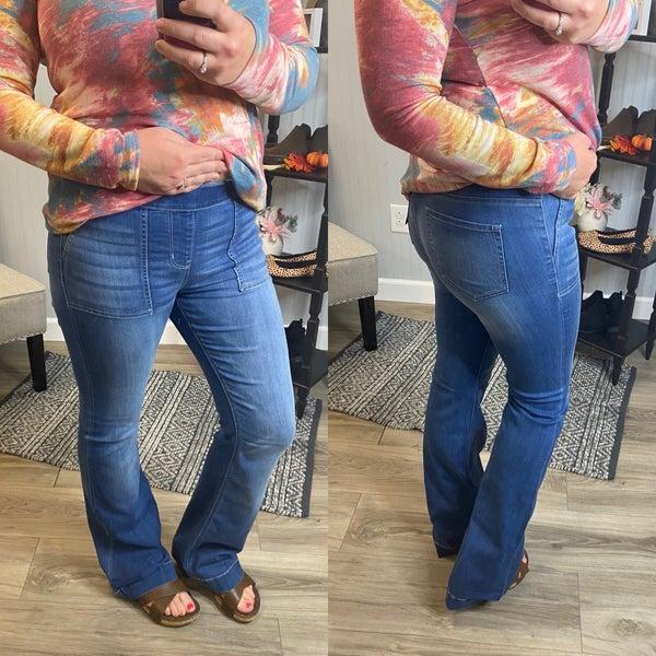 Cello Light Wash Casual Flare Jeans