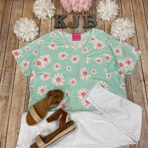 HM Mint Daisy Pocket Top
