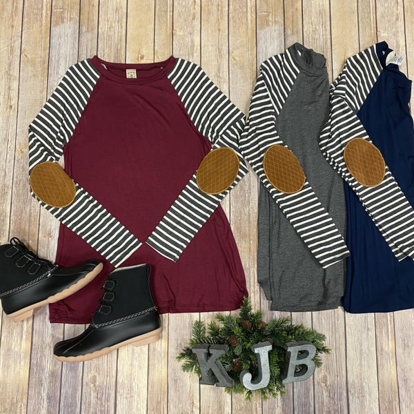 Stripe Patch Sleeve Top