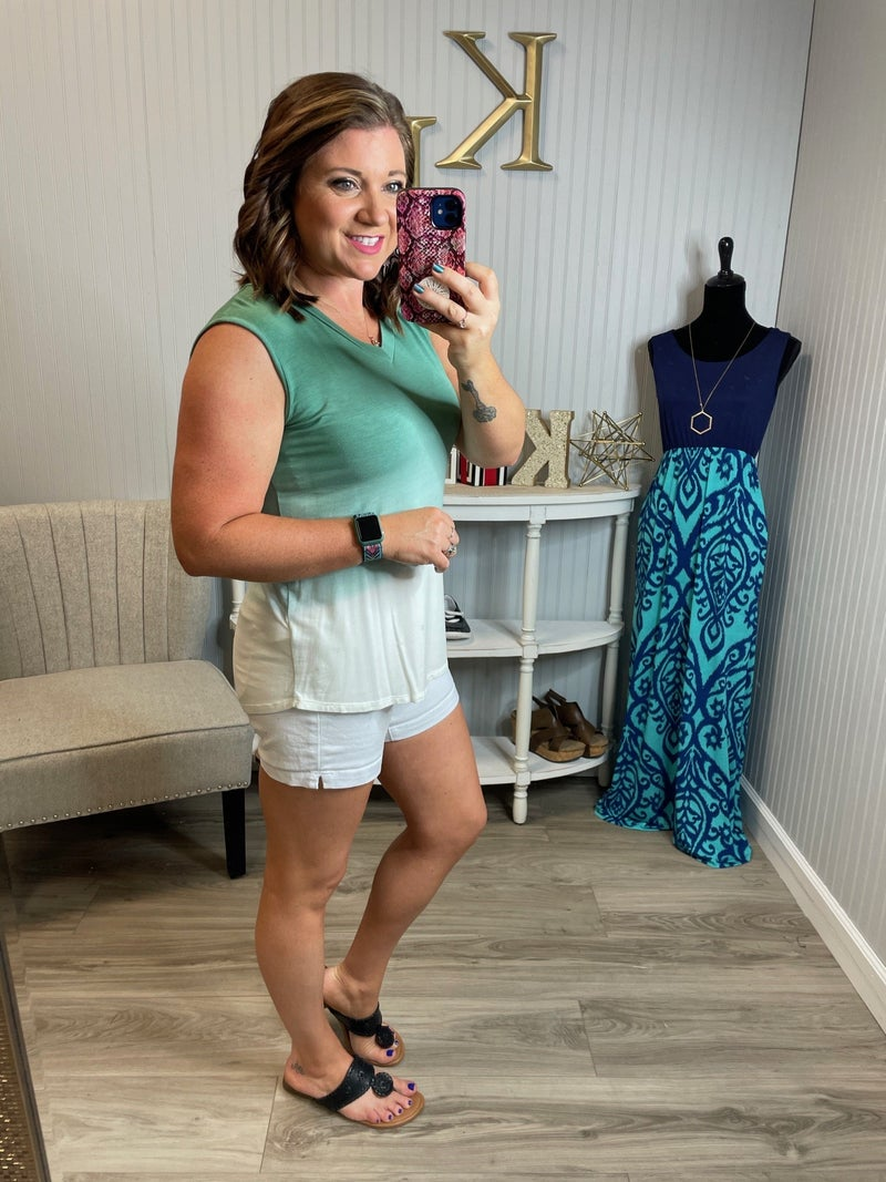 SIL Sage Ombre Sleeveless Top