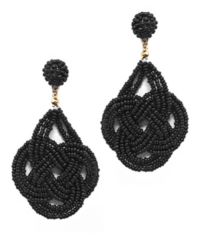 Beaded Knotted Drop Earring